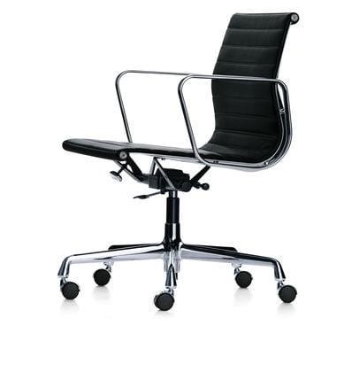Vitra EA 117 Aluminium Chair in leather