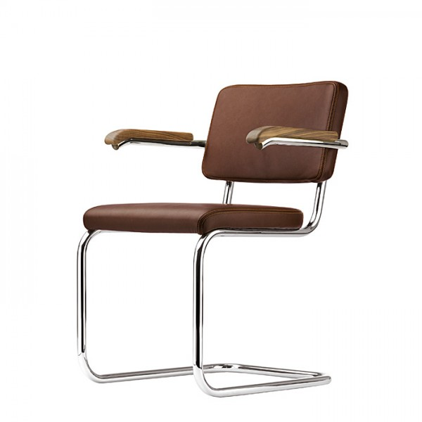 "Thonet S 64 PV, cantilever padded chair - edition ""PURE MATERIALS"""