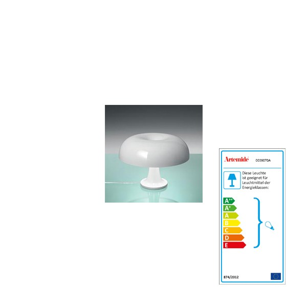 Table lamp Artemide Nessino white