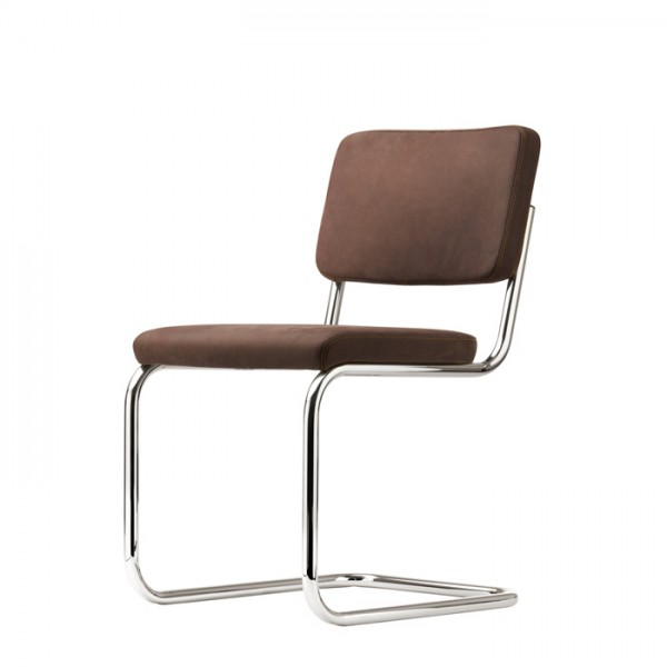 """Thonet S 32 PV cantilever, padded chair, edition """"PURE MATERIALS"""""""