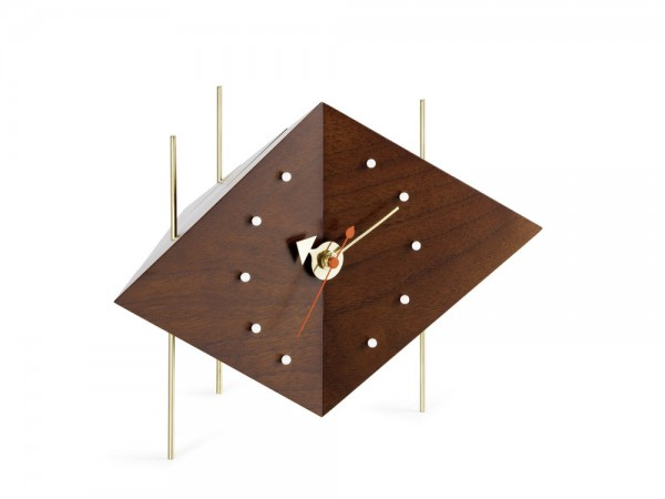 Diamond Clock walnut by Vitra