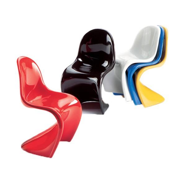 Vitra set of 5 miniature panton chairs