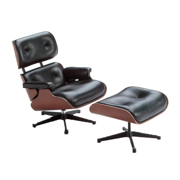 Vitra miniature Lounge Chair and Ottoman