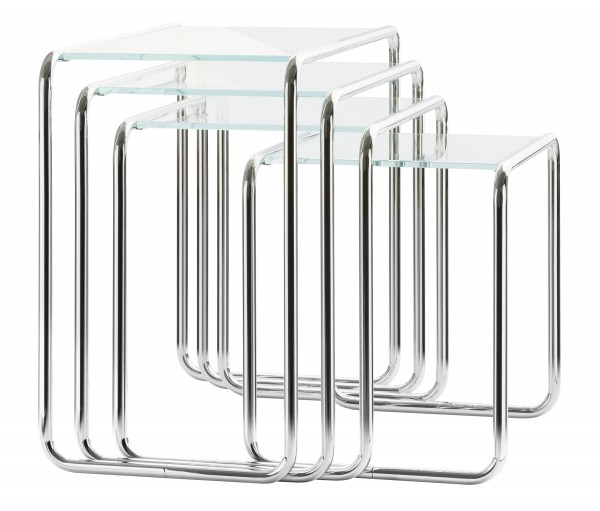 Thonet set of side tables B9 glass