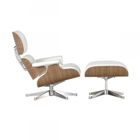 Vitra Lounge Chair & Ottoman white