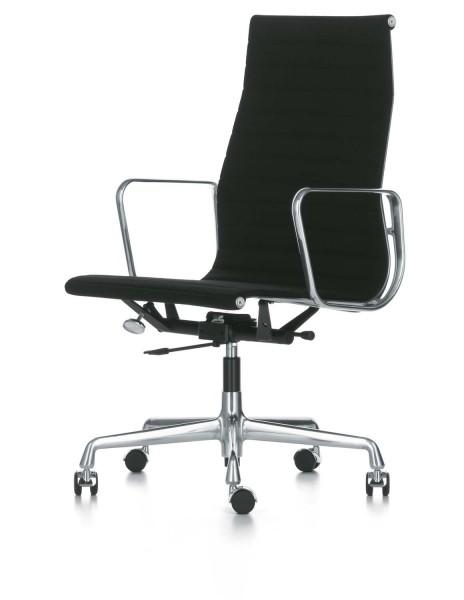 Vitra leather aluminium chair EA 119
