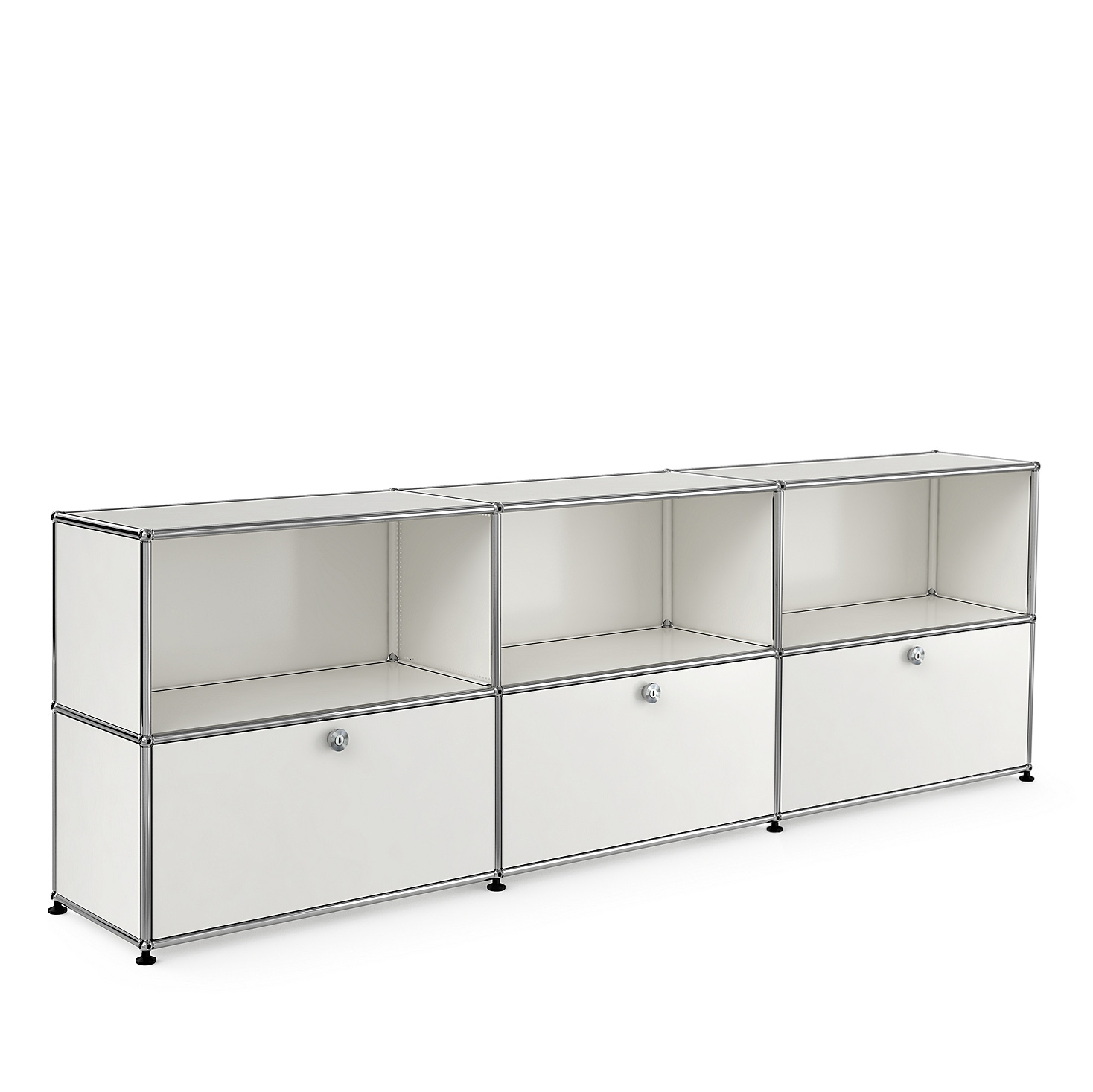 usm haller sideboard 3x2 with three extension doors. Black Bedroom Furniture Sets. Home Design Ideas
