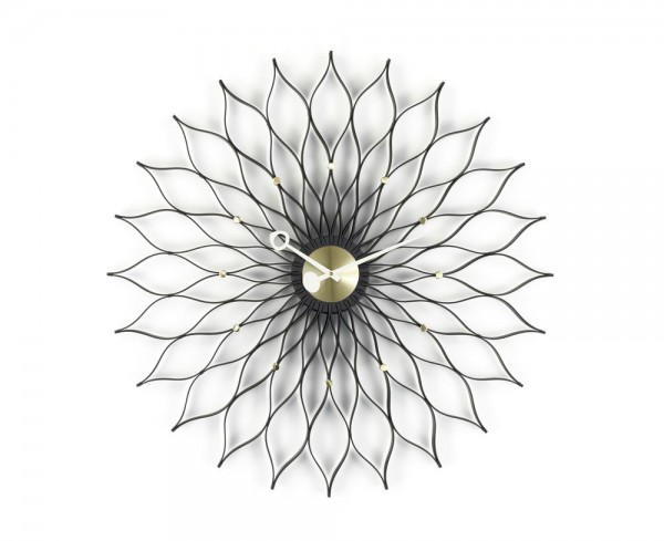 Vitra Sunflower Clock Black Ash