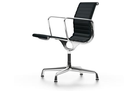 Vitra EA 107 / EA 108 Aluminium Chair in leather