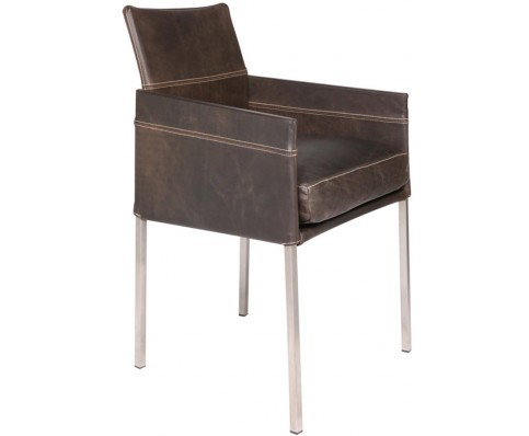 TEXAS EXCLUSIV armrest chair in leather