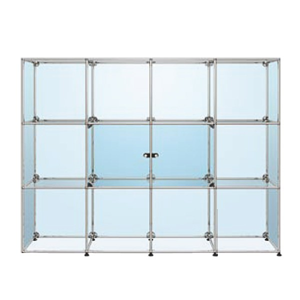 USM Haller glass cabinet with two glass doors