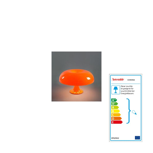 Artemide Lamp Nesso orange