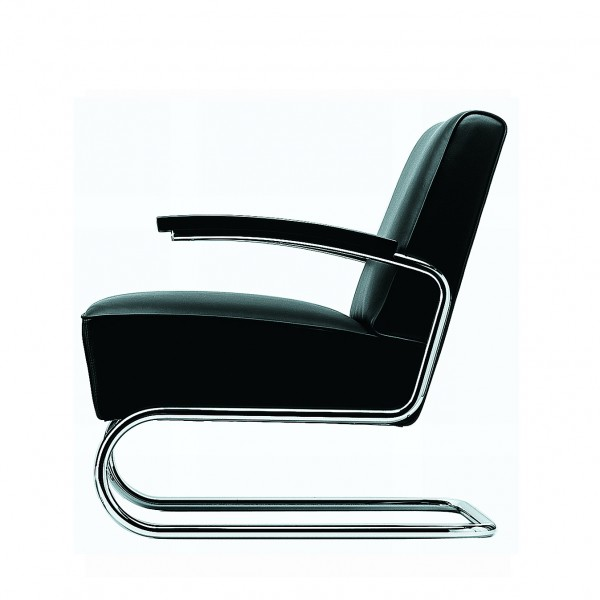 Thonet armchair S 411, nappa leather