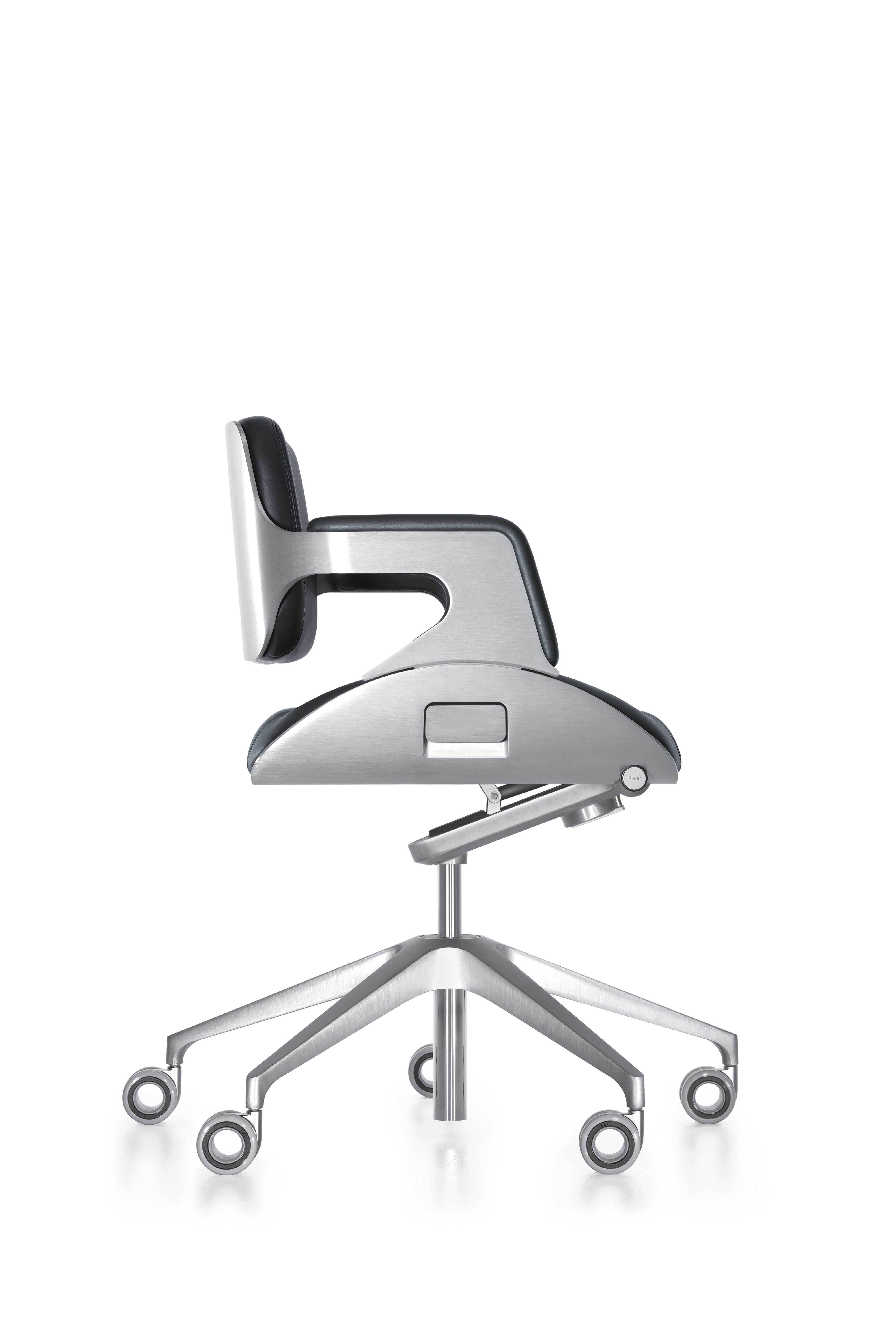 Interstuhl Silver Swivel Chair 162S, short backrest