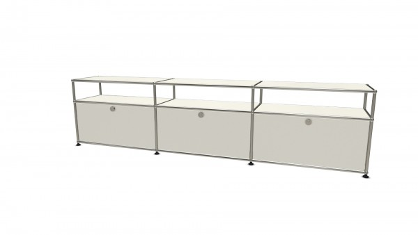 USM Haller sideboard with 3 doors, open top