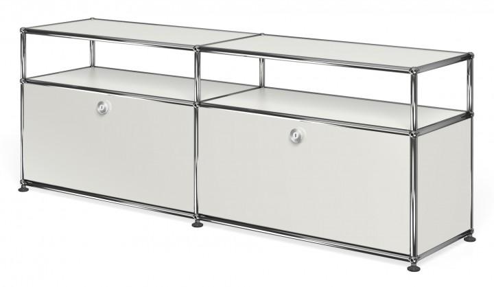 usm haller sideboard mit 2 klappt ren oben offen. Black Bedroom Furniture Sets. Home Design Ideas